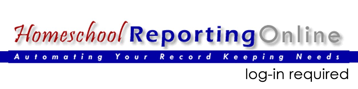 Homeschool Reporting Online: login required